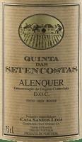Podgląd: Quinta das Setencostas Alenquer DOC 2017 - Casa Santos Lima