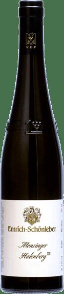 Duża roślina Riesling firmy Monzinger Halenberg firmy Emrich-Schönleber świeci w szkle złotożółtym kolorem.W szklance rozwijają się w pełni dojrzałe aromaty soczystych żółtych owoców, uzupełniają je aromaty grejpfrutowe. Na podniebieniu Halenberg GG od Schönleber można poczuć drobną, słoną mineralność i wyraźną precyzyjną kwasowość podkreśla całe ciało. Wyraźny ryż z wielowarstwowymi aromatami i elegancką finezją, który staje się coraz bardziej złożony wraz ze wzrostem dojrzałości.