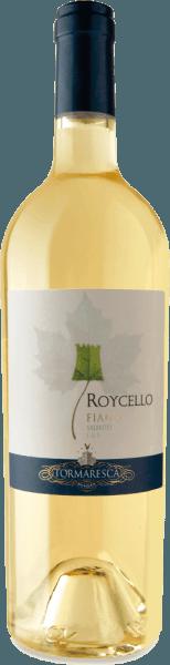 Roycello Fiano Salento IGT z Tormaresca mieni się w kieliszku słomkowożółty z zielonkawymi refleksami i ujawnia swój złożony i owocowy bukiet. Aromaty białej brzoskwini i owoców cytrusowych, dopełnione kwiatowymi nutami jaśminu i delikatnymi niuansami ziołowymi. Na podniebieniu to południowowłoskie białe wino zaczyna się miękko, po czym pojawia się ożywcza i przyjemna kwasowość Winifikacja dla Tormaresca Roycello Fiano Salento IGT Winogrona do tego single-varietal Fiano pochodzą z winnic Tenuta Maìme w prowincji Brindisi w Apulii. Winogrona zostały zebrane w optymalnym momencie dojrzałości. Moszcz przechowywano w chłodnym miejscu w celu osiągnięcia naturalnego klarowania. Następnie fermentacja alkoholowa i dojrzewanie przez 4 miesiące na drobnym osadzie w zbiornikach ze stali nierdzewnej. Krótki okres dojrzewania w butelce nadaje Roycello ostateczny szlif. Zalecenia żywieniowe dla Roycello Fiano Salento z Tormaresca Delektuj się tym wytrawnym białym winem z Apulii jako aperitifem lub z sushi i kurczakiem. Nagrody dla RoycelloFiano Salento IGT z Tormaresca Gambero Rosso: 2 szkło na 2016 rok James Suckling: 90 punktów za 2015 r Vini Buoni d'Italia: 3 gwiazdki za rok 2014