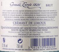 Podgląd: Aimery Grande Cuvée 1531 Crémant Brut - Sieur d'Arques