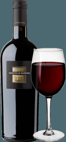 """Sessantanni Primitivo di Manduria Cantine San Marzanojest jednym z największych czerwonych win w Puglii. Sessantanni Primitivo, rasowe włoskie czerwone wino, jest winifikowane z winogron ponad 60-letnich winorośli i zachwyca bogatymi owocami i cudownie pikantnymi niuansami cynamonu, drewna cedrowego i wanilii. Sessantanni Primitivo di Manduria Cantine San Marzano to niezapomniane, intensywne czerwone wino z Włoch, które zachwyca swoim pełnym ciałem. Głęboko czerwone w szklance to czerwone wino zachwyca złożonym bukietem pełnym suchych śliwek, kompotu wiśniowego, lekkiego tytoniu, anyżu i dojrzałych jagód leśnych. Winifikacja Sessantanni Ręcznie zbierane winogrona do tego szlachetnego czerwonego wina pochodzą z 60-letnich kijów zakorzenionych w jałowych glebach bogatych w tlenek żelaza. To wyjaśnia nazwę, ponieważ Sessantanni oznacza """"sześćdziesięciolatka"""". Rezultatem jest między innymi znacznie niższy plon, ponieważ te zgrzytane stare winorośle produkują rocznie zaledwie około 3000 kg winogron na hektar. To naturalnie obniżone plony jednocześnie umożliwiają szczególnie wysoką jakość poszczególnych winogron. Scirocco, które wieje z Afryki Północnej, wyraźnie charakteryzuje klimat winnic Cantine San Marzano w południowych Włoszech. Nosi suche powietrze, co utrudnia grzybom, owadom i gniciu dodanie do winorośli, co prawie umożliwia uprawę zgodnie ze standardami biologicznymi. 80% moszczu pozostawia się na zacierze przez 18 dni pod kontrolą temperatury. Pozostałe 20% przez 25 dni. Prowadzi to do optymalnej ekstrakcji. Drożdże są winne. Po usunięciu Sessantanni dojrzewa przez 12 miesięcy w dębowych beczkach francuskich i amerykańskich. Notatka degustacyjna/Degustacja Sessantanni Sessantanni Primitivo di Manduria Cantine San Marzano to czyste Primitivo, które pojawia się z głęboką czerwienią rubinową w szklance.Nos ujawnia aromaty suszonych śliwek i dżemu wiśniowego, a także nuty słodkich przypraw, takich jak goździki, cynamon i wanilia. Na podniebieniu, Sessantanni jest """