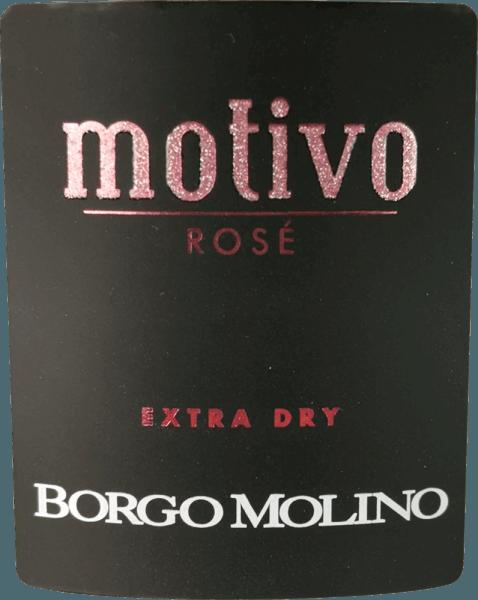 """Motivo Rosé extra dry z Borgo Molino to doskonały aperitif z Glera, Raboso i Pinot Nero. To najlepsze spumante z Veneto zachwyca mnóstwem żywych owoców i cudownie owocowym smakiem na podniebieniu! Motivo Rosé z Borgo Molino prezentuje się w kieliszku w kolorze jasnoróżowym. Delikatny, trwały perlage w połączeniu z owocowym i intensywnym bukietem przypominającym maliny, truskawki i róże charakteryzuje to cuvée. Świeże, soczyste i żywe w smaku, Motivo Rosé robi wszystko jak należy. Wino musujące z północnych Włoch, które wie, jak natychmiast zainspirować i które już swoim niezwykłym kształtem butelki mówi """"Oto nadchodzi coś wyjątkowego!"""" Winifikacja Borgo Molino Motivo Rosé Motivo Rosé jest winifikowane w Borgo Molino z odmian winogron Glera, Raboso i Pinot Nero. Winogrona uprawiane są w regionie Marca Trevigiana i zbierane są w momencie optymalnej dojrzałości. Zalecenia żywieniowe dla Borgo Molino Motivo Rosé Delektuj się tym niezwykłym winem musującym z Veneto jako aperitif lub do aromatycznych dań z owoców morza. Nagrody dla Motivo Rosé IWSC 2017: srebro Luca Maroni 2017: 90 pkt Mundus Vini 2013: srebro"""