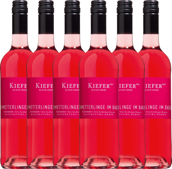 6er Vorteils-Weinpaket - Schmetterlinge im Bauch Rosé 2020 - Weingut Kiefer