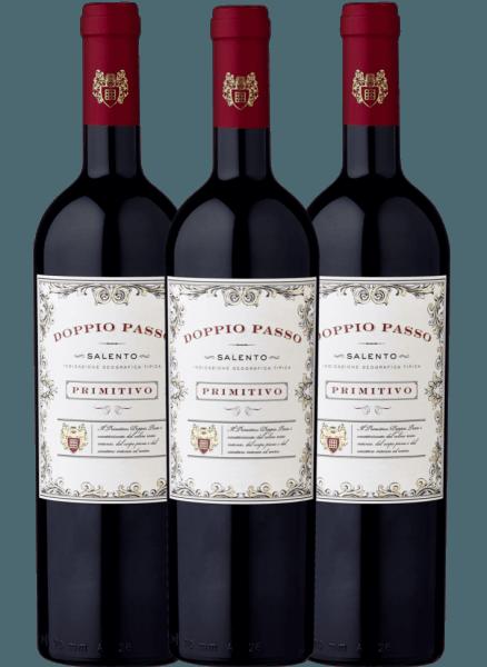3er Vorteils-Weinpaket - Doppio Passo Primitivo Salento 2020 - CVCB