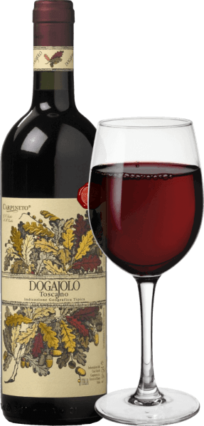 Dogajolo Toscano Rosso Carpineto to klasyka wśród dziecięcych supertuskanów. Podobnie jak w przypadku wszystkich Super Toskanii, winorośl Chianti Sangiovese jest sercem wina w Dogajolo Rosso. Ponadto dodaje się Cabernet Sauvignon i inne odmiany winogron. Kolor Dogajolo Rosso najlepiej opisać jasną czerwienią wiśniową. Leży w szklance o średniej gęstości i pachnie elegancko dojrzałymi wiśniami, uzupełnionymi jabłkiem granatowym i czerwoną porzeczką. Delikatne odcienie wanilii i delikatna nuta dębowego dopełnienia. Na podniebieniu Dogajolo Toscano Rosso jest przyjemnie świeże, żywe i przyczepne. Prezenty, ale dobrze zintegrowane garbniki i świeży kwas owocowy nadają winu poczucie i charakter. Doskonały towarzysz jedzenia, który nie rezygnuje z umysłu nawet przy bogatej, tłustej diecie. Winiarstwo Dogajolo Toscano Rosso Winogrona są zbierane oddzielnie według odmian winogron i winifikowane oddzielnie. Dojrzewają one następnie w małych, zużytych beczkach dębowych, w których odbywa się również biologiczna konwersja kwasu. Po butelkowaniu w marcu i kwietniu następnego roku, to czerwone wino z Toskanii jest sprzedawane bezpośrednio, ale może również dojrzewać przez kilka lat bez żadnych problemów. Zalecenia żywieniowe dla Dogajolo Toscano Rosso by Carpineto Ciesz się toskańskim cuvée z obfitymi daniami mięsnymi, grillowaną wołowiną i wieprzowiną lub z obfitym talerzem kiełbasy z dobrym chlebem wiejskim. Oczywiście Dogajolo Rosso świetnie pasuje również do dań z makaronu z mięsem lub sosami pomidorowymi. Nagrody dla Carpineto Dogajolo Rosso Wybór: 3 gwiazdki (bardzo dobry) na 2015 Miłośnik wina: 86 punktów za 2015 r. Wine Spectator: 86 punktów za 2014 Wyrównanie win: najwyższa wartość w 2012 r. World Wine Award of Canada: Złoto za 2012 rok