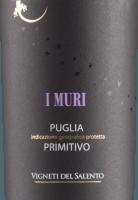 Podgląd: I Muri Primitivo Puglia IGP 2019 - Vigneti del Salento