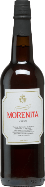 Krem Morenita od Emilio Hidalgo to cudownie słodka sherry z odmian winogron Palominon (70%) i Pedro Ximénez (30%). W kieliszku ujawnia intensywny bursztynowy kolor z złotymi refleksami. Czysty, delikatny bukiet z nutami karmelu, suszonych owoców, nut orzechowych i mokki wzbogaca nos. Miękka i elegancka sherry, która doskonale leży na podniebieniu i przekonuje ładnie wyważoną słodyczą, a jednocześnie lekko orzeźwiającym smakiem. Finisz ma przyjemną długość. Winifikacja kremu Hidalgo Morenita Ręcznie zbierane winogrona są pozbawiane pestek, delikatnie wyciskane, a powstały moszcz poddawany jest fermentacji w zbiornikach ze stali nierdzewnej pod kontrolą temperatury. Młode wino jest następnie odciągane, wzmacniane i umieszczane w beczkach z amerykańskiego dębu w celu dojrzewania. Po dojrzeniu wina bez drożdży, jest ono przekazywane do tradycyjnego systemu solera, w którym sherry tego samego typu dojrzewają w beczkach ustawionych jedna nad drugą. Najstarsze wina przechowywane są w dolnych beczkach (Solera), natomiast najmłodsze w górnych rzędach (Criaderas). Sherry przeznaczona do sprzedaży jest zawsze pobierana z niższych beczek. Tutaj jednak pobiera się tylko niewielką część (maksymalnie jedną trzecią), a pobraną część uzupełnia się sherry z górnych rzędów. Cała ta zasada jest kontynuowana aż do najwyższych beczek, gdzie do sherry dodaje się młode wino - Mosto. Oloroso, powstające pod wpływem utleniania, jest następnie mieszane z naturalnie słodkim winem. Zalecenia żywieniowe dla Morenita Cream Emilio Hidalgo Możliwości delektowania się tym trunkiem są nieograniczone: ta słodka sherry z Hiszpanii polecana jest do picia w czystej postaci, jako aperitif, dodatek do tapas i kanapek oraz jako wino deserowe.