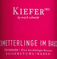 Podgląd: Schmetterlinge im Bauch Wein Kiefer Etikett