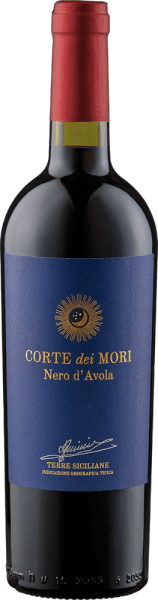 Etichetta Blu Nero d'Avola Terre Siciliane 2019 - Corte dei Mori