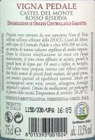 Podgląd: Vigna Pedale Castel del Monte Riserva DOCG 2015 - Torrevento